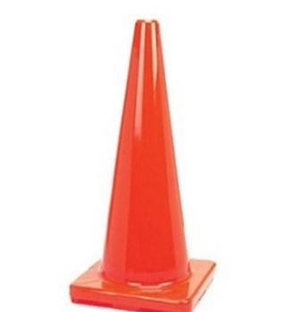 "28"" Premium Orange PVC Safety Cone"