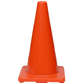 "18"" Premium PVC Orange Safety Cone"