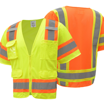ANSI Class III Two-tone Heavy Duty Surveyor Safety Vest