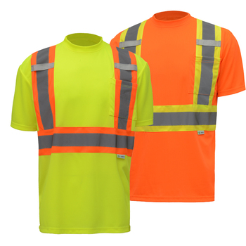 ANSI Class II Two-Tone Short Sleeve Safety T-Shirt
