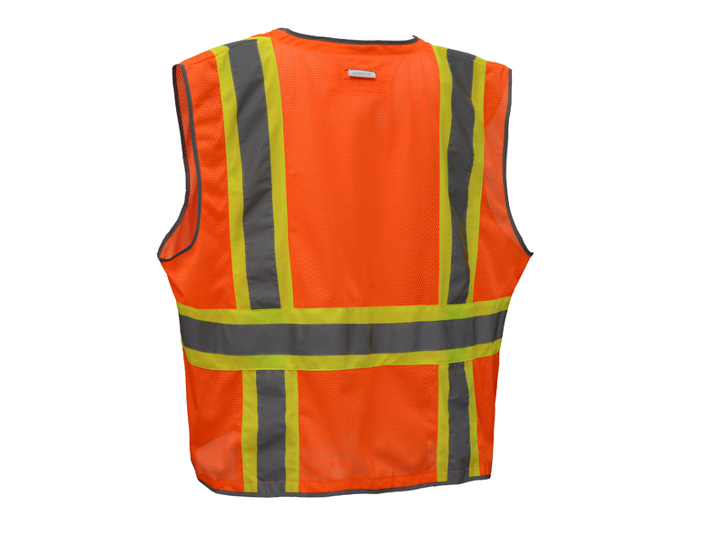 ANSI Class II Heavy Duty Two-Tone Safety Vest