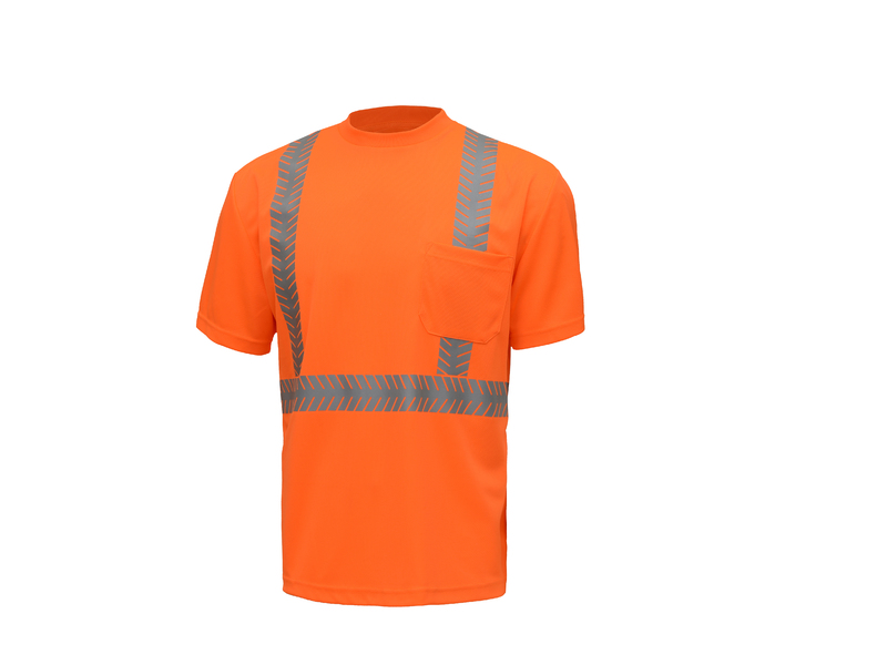 ANSI Class II Short Sleeve Safety T-Shirt with Segmented Tape