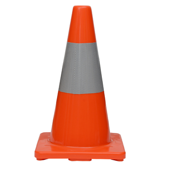 "18"" Premium PVC Orange Safety Cone with 6"" Reflective Collar"