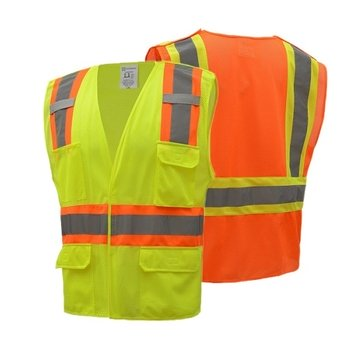 ANSI Class II 5-Point Breakaway Two-Tone Safety Vest