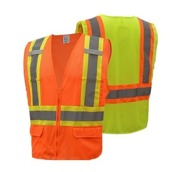 ANSI Class II Two-Tone Safety Vest - Multi Pockets